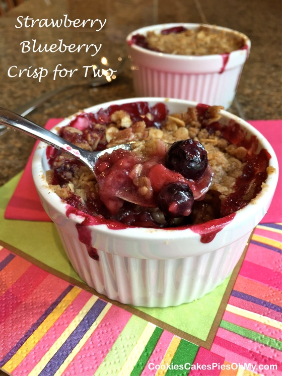 Strawberry Blueberry Crisp for Two 3