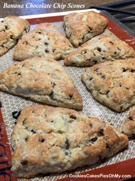 Banana Chocolate Chip Scones 3