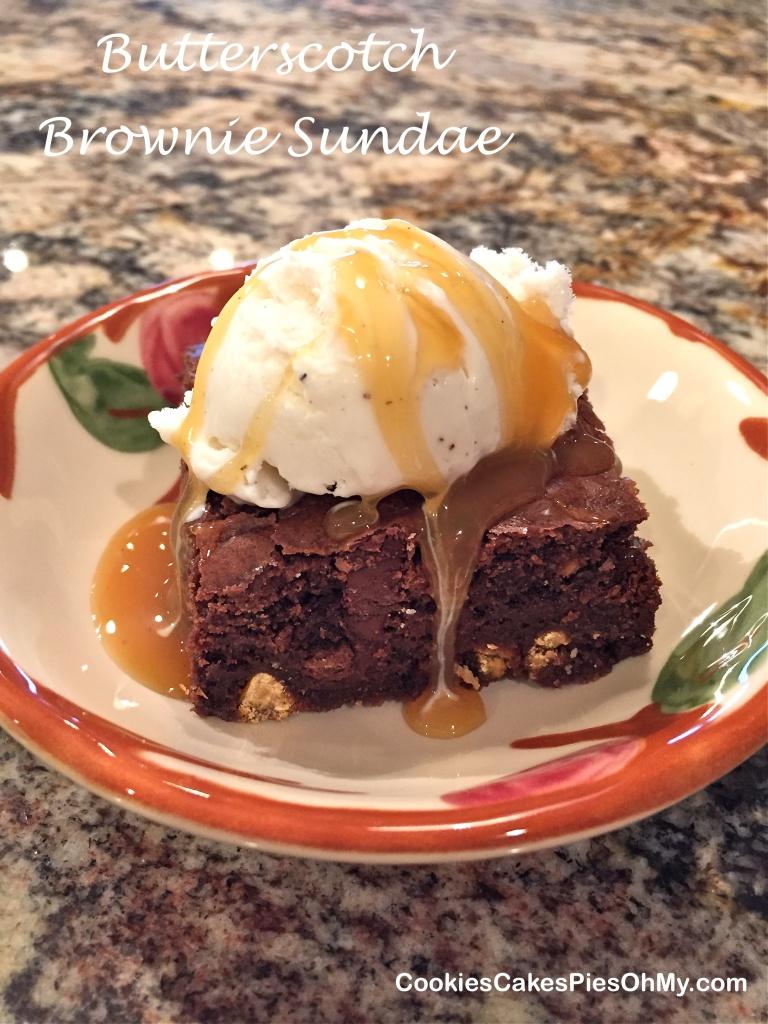 Butterscotch Brownie Sundae