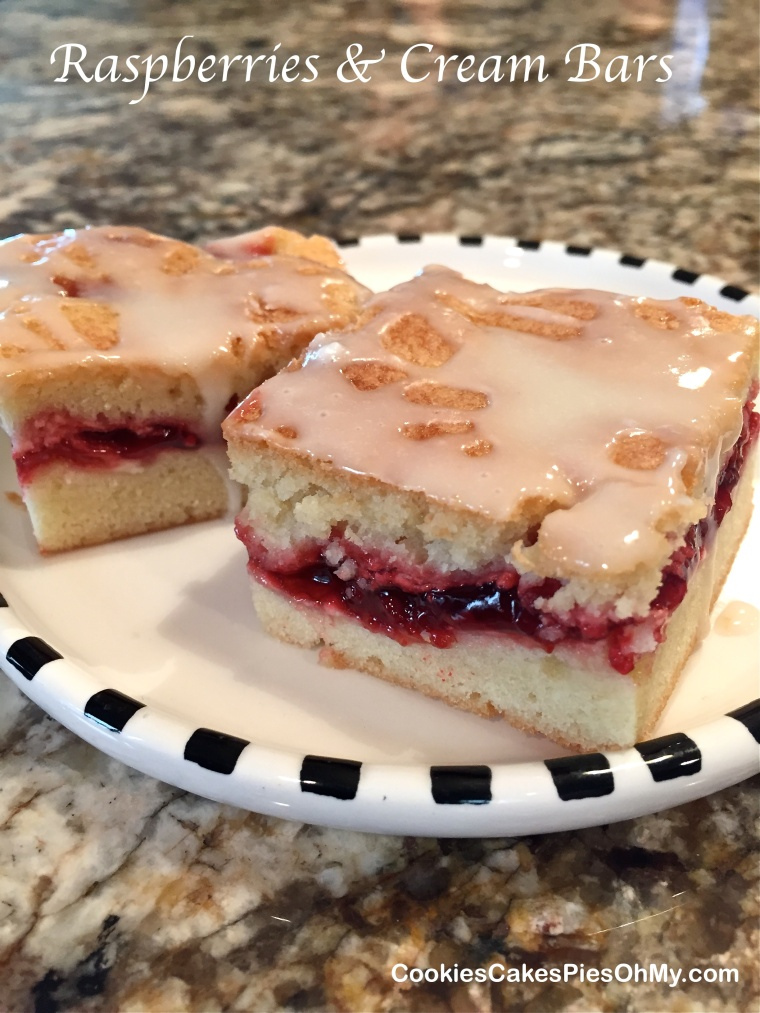Raspberries & Cream Bars