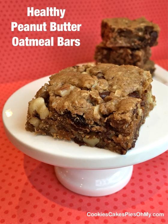 Healthy Peanut Butter Oatmeal Bars