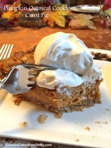 Pumpkin Oatmeal Cookie Crust Pie 2