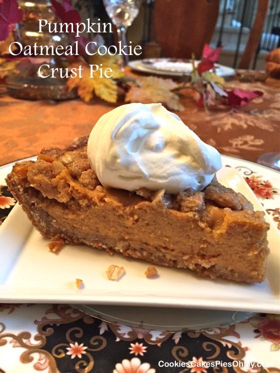 Pumpkin Oatmeal Cookie Crust Pie