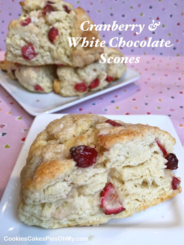 Cranberry & White Chocolate Scones