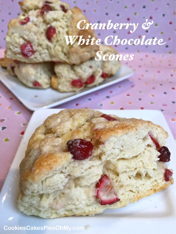 Cranberry & White Chocolate Scones
