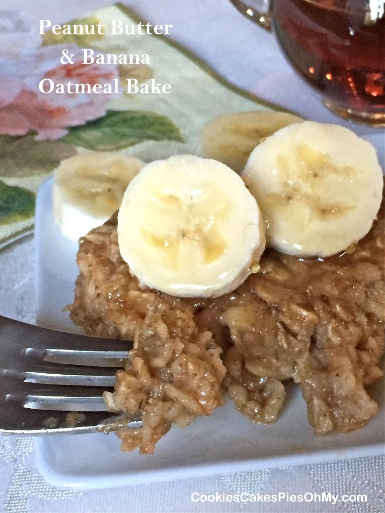 Peanut Butter & Banana Oatmeal Bake 1