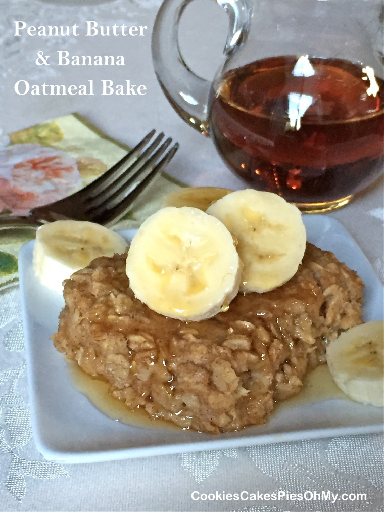 Peanut Butter & Banana Oatmeal Bake