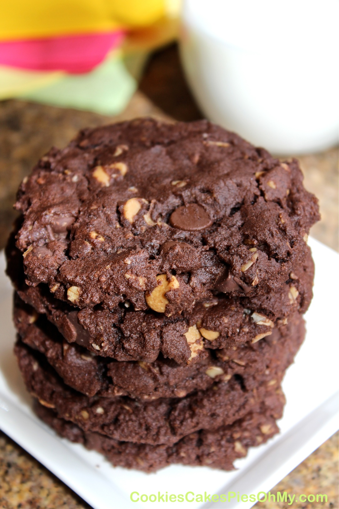 Peanut Butter Fudge Oatmeal Cookies 2