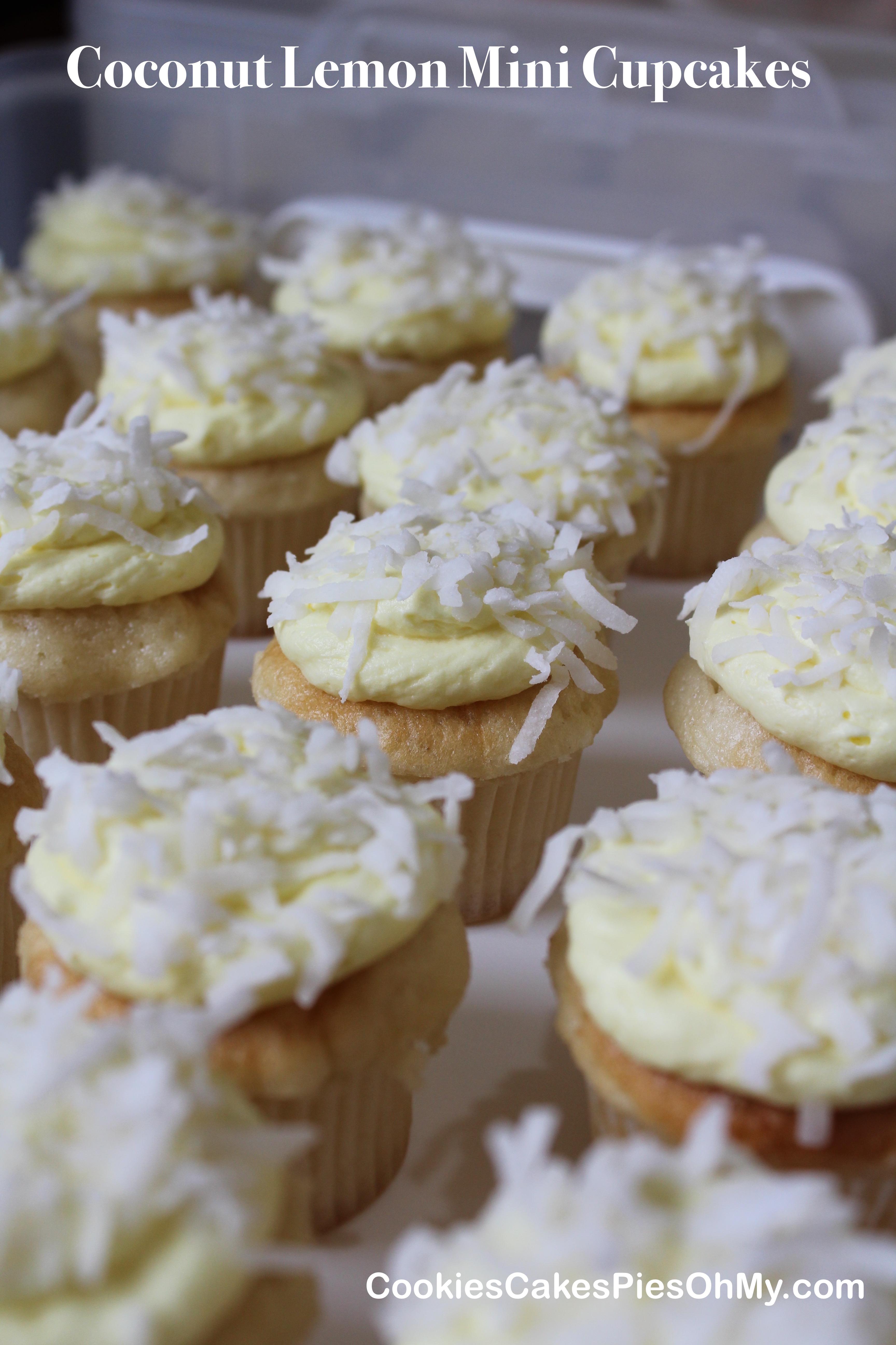 Coconut Lemon Mini Cupcakes