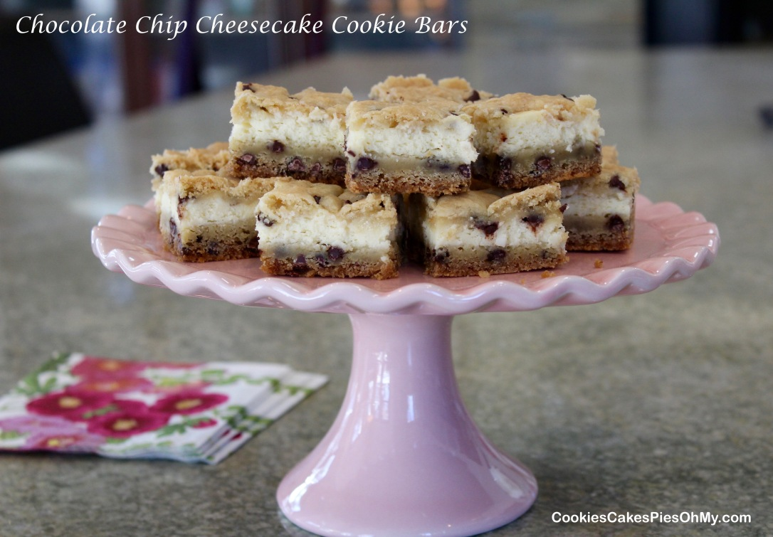 chocolate chip cheesecake cookie bars