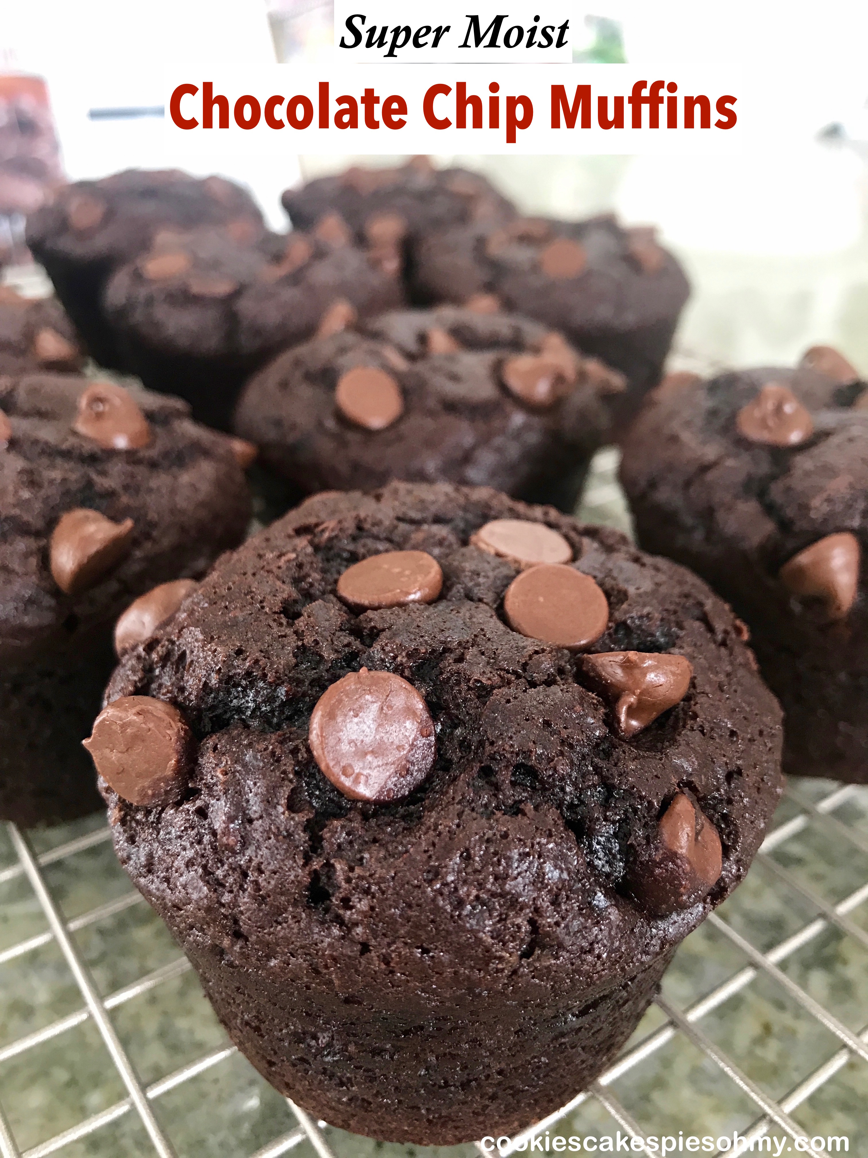 Moist Chocolate Chip Muffins 1