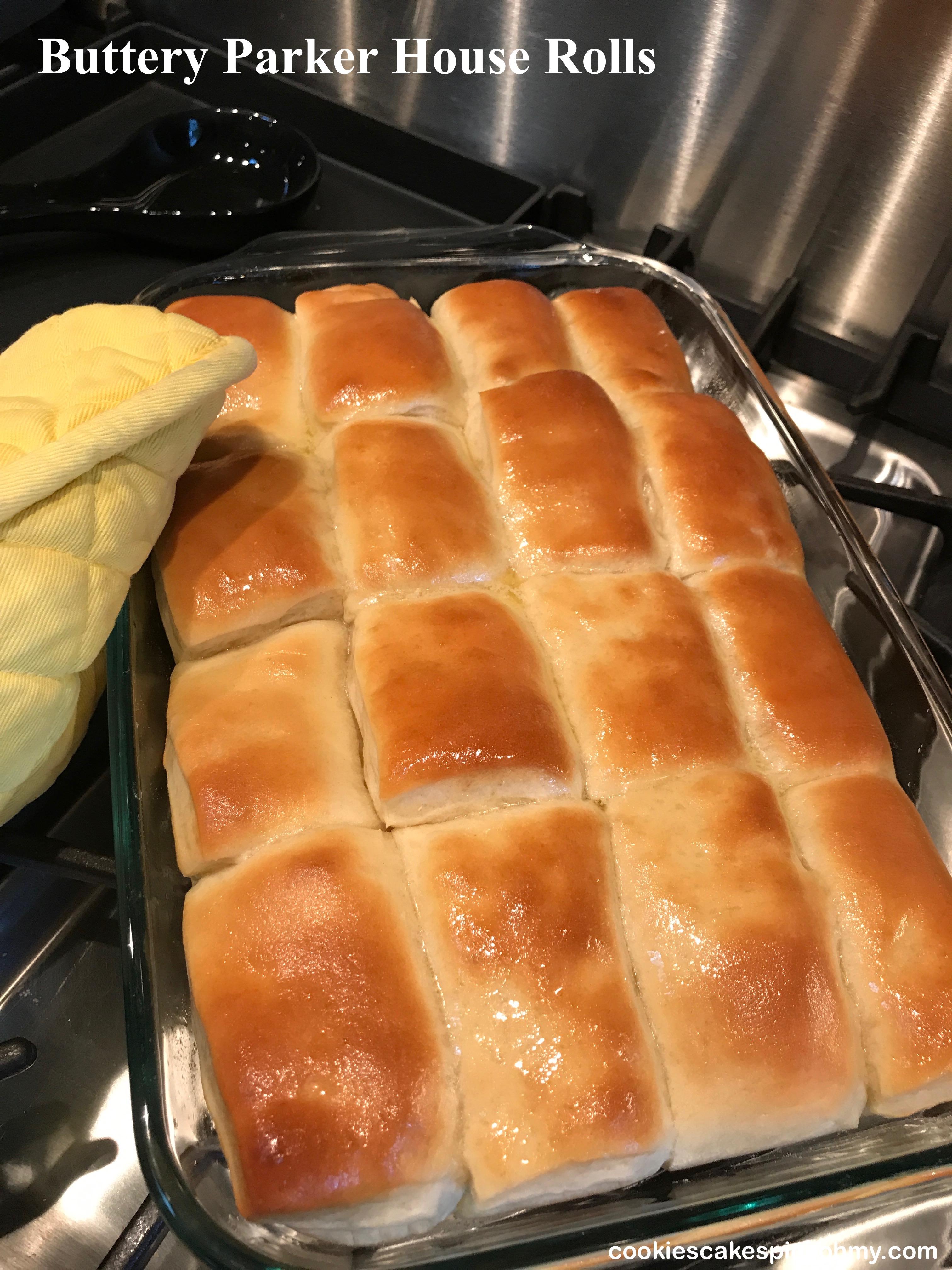 Buttery Parker House Rolls 1